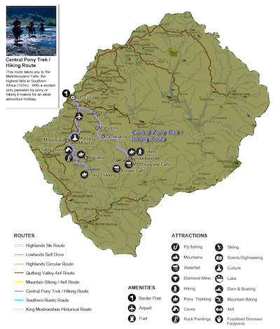 Central Pony Trekking/Hiking Route, Lesotho