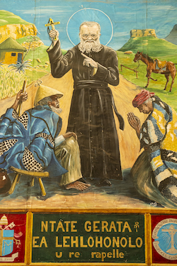 Painting of Father Gerard, Roma, Lesotho