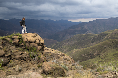 Hiking in Sehlebathebe National Park, Lesotho