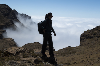 Hiking on Sani Top, Lesotho