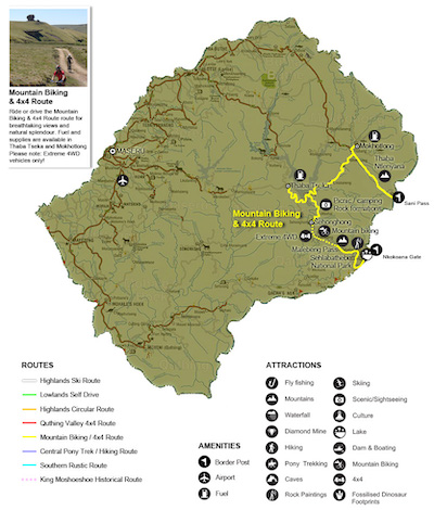 Mountain Biking/4x4 Route, Lesotho